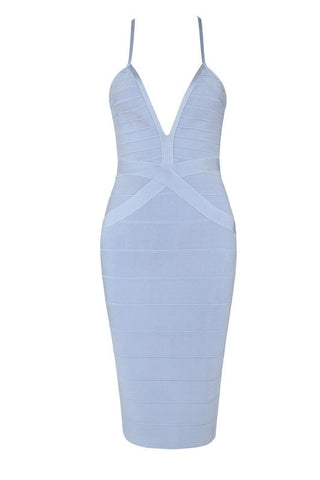 Chandra Blue Bandage Dress