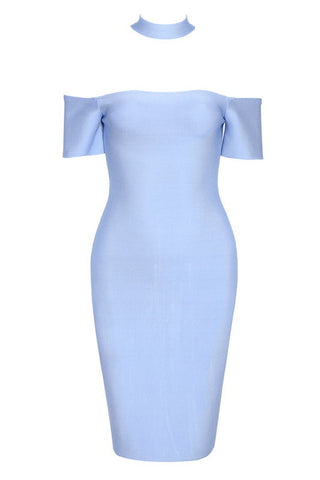 Cara Blue Bandage Dress