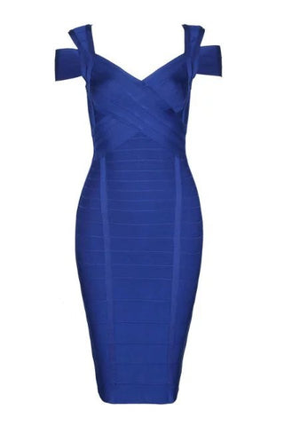 Karin Blue Bandage Dress