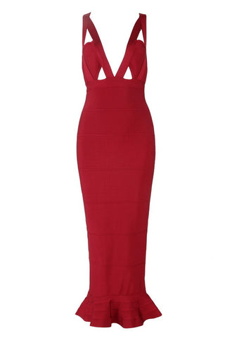 Ericka Red Bandage Dress