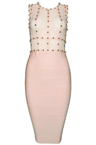 Juliette Pink Bandage Dress