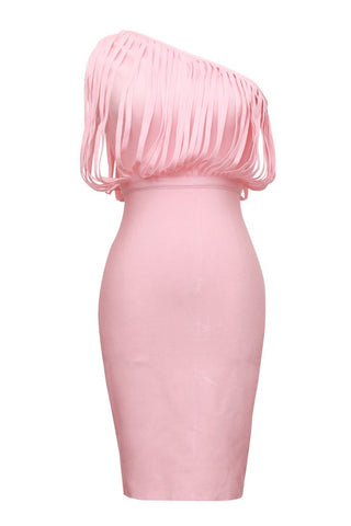Eunice Pink Bandage Dress