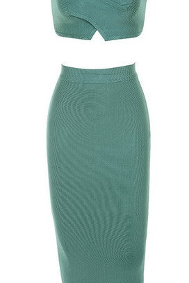 Celeste Green Bandage Dress