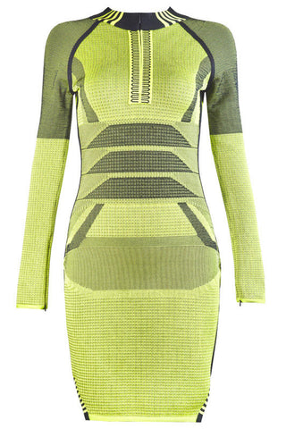 Diann Green Bandage Dress