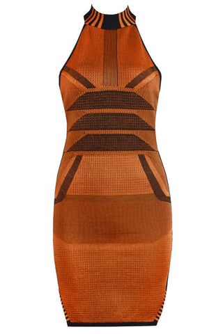 Cherry Orange Bandage Dress