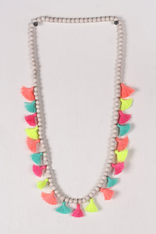 Colorful Beaded Elastic Necklace Accessories Necklaces