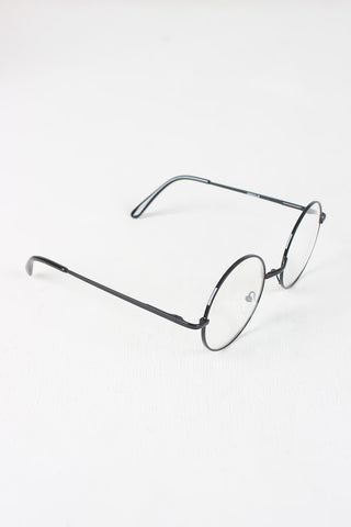 Circular Metal Framed Clear Lens Sunglasses Accessories