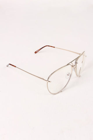 Classic Clear Lens Wire Aviator Glasses Accessories Sunglasses