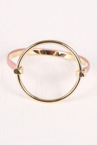 Circular Accent Hinge Bangle Bracelet Accessories Bracelets
