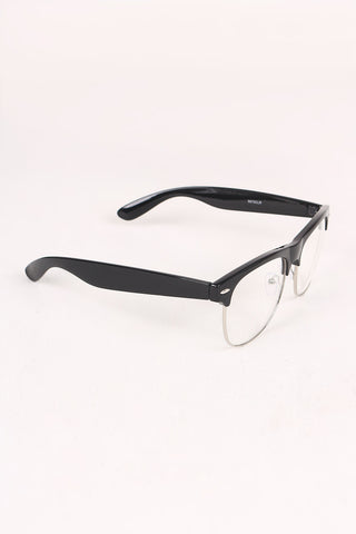 Clear Lens Semi-Rimless Wayfarer Glasses Accessories Sunglasses