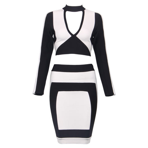 Bridgette B&w Bandage Dress