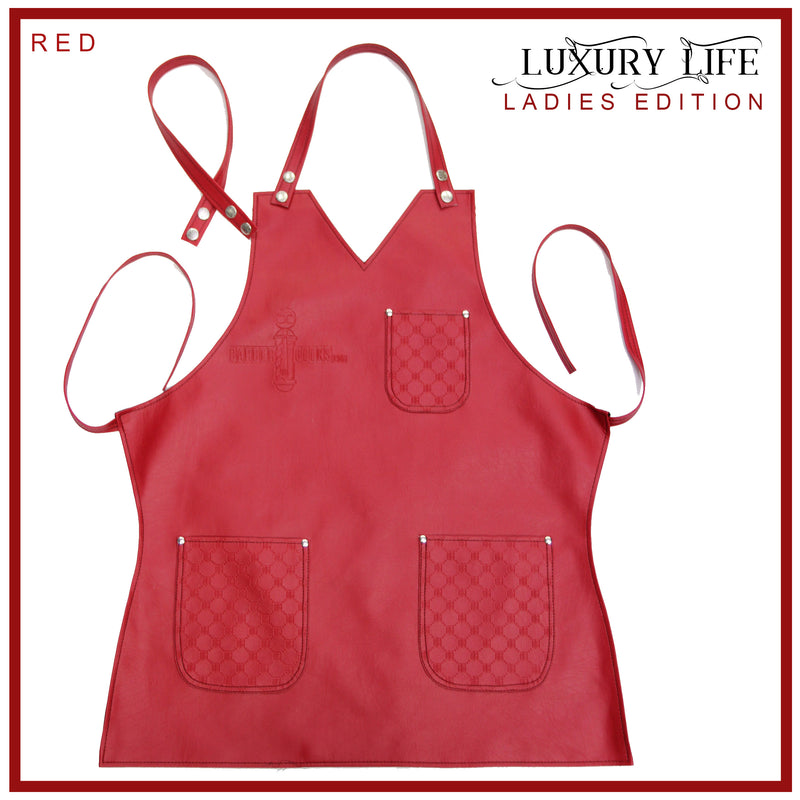 BarberGeeks LUXURY LIFE APRON LADIES EDITION – Red