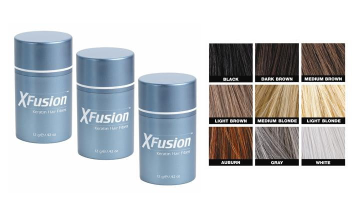 Xfusion hair fiber combo [hair fibers-pump-holding spray]