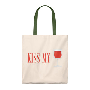 Kiss My Glass - Vintage Tote Bag,Bags,nautilus-west