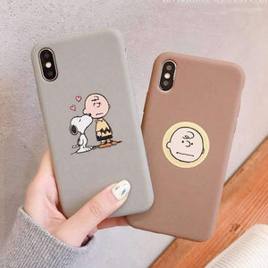 Peanuts - Charlie Brown And Snoopy Soft Phone Case