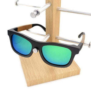 Sunglasses - 50mm Wayfarer-style Gradient Bamboo Sunglasses