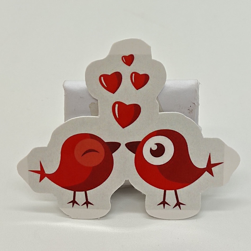 Birds in love sticker label printing custom