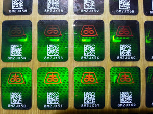 anti-counterfeit original 3D authentic holographic laser label, anti-fake 3D hologram Sticker with QR code & serial number