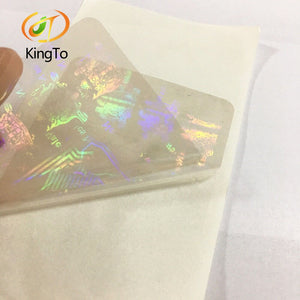 Factory price Custom Transparent PET hologram sticker card hologram overlay