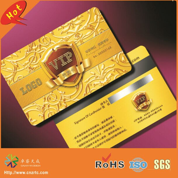 (3000pcs/lot)both side printing CR80 plastic VIP cards printing with signature panel