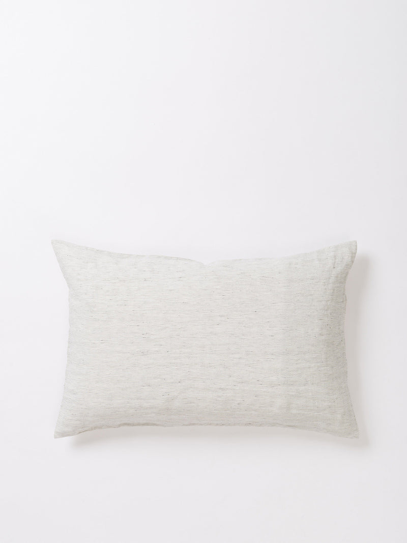 Linen Pillowcase Pair - Pinstripe