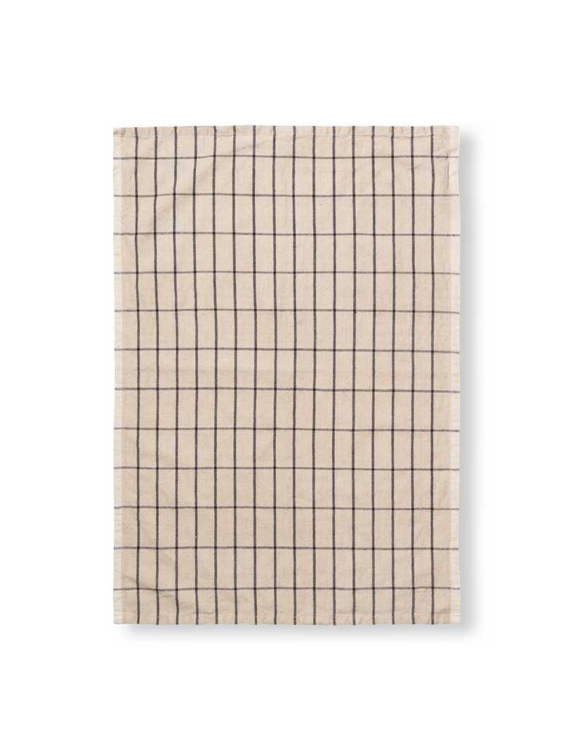 Hale Tea Towel - Sand Black