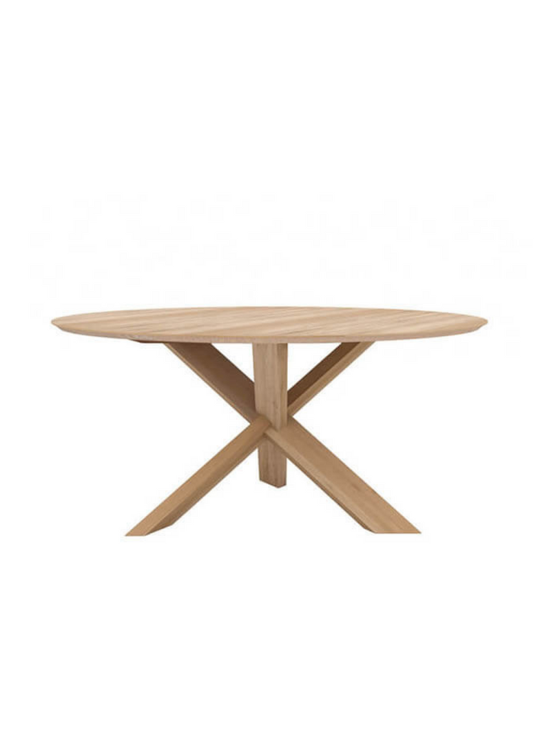 Oak Circle Dining Table