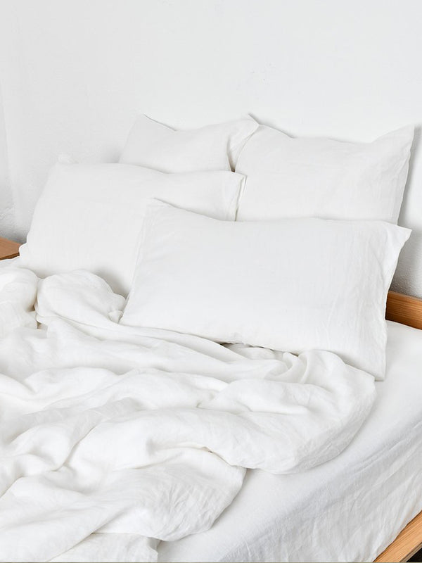 Linen Duvet Cover - French White