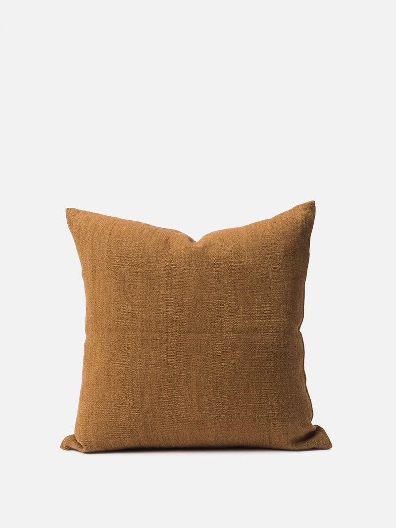 Heavy Linen Jute Cushion Cover - Masala