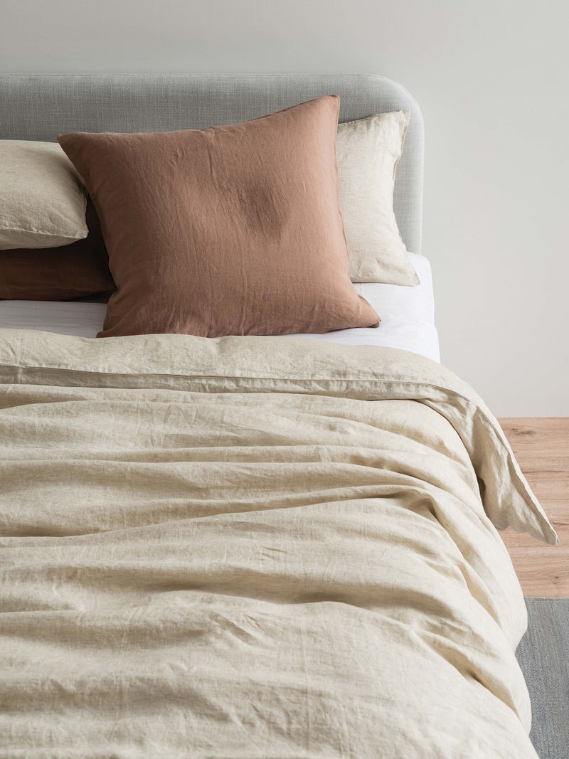 Sove Chambray Linen Duvet Cover Oatmeal The Other Half Store