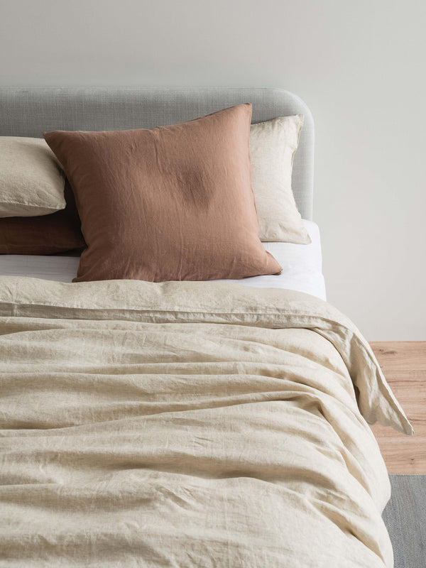 Sove Chambray Linen Pillowcase Pair - Oatmeal