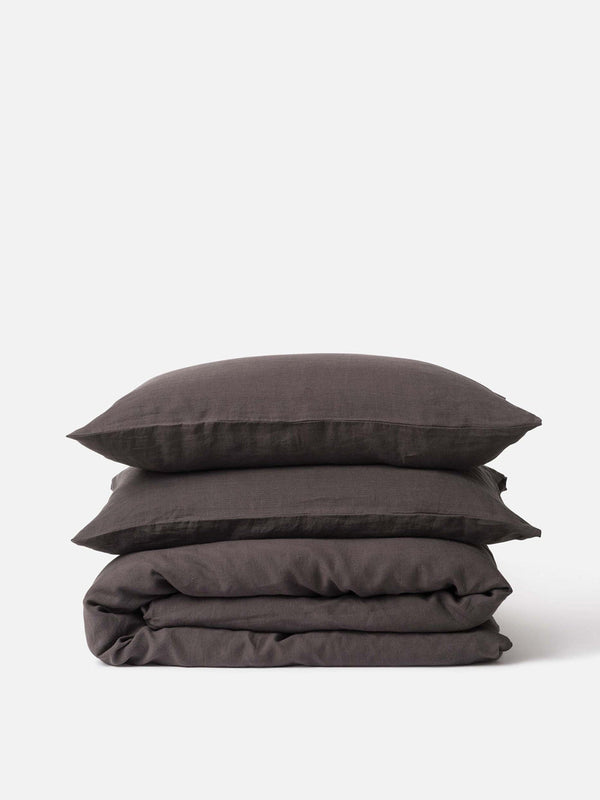 Sove Linen Duvet Cover - Pepper