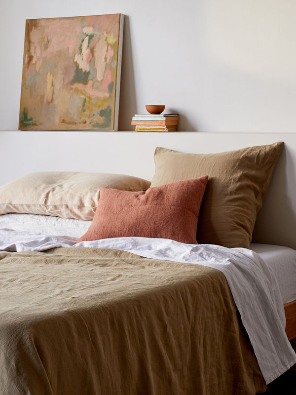 Sove Linen Duvet Cover - Pickle