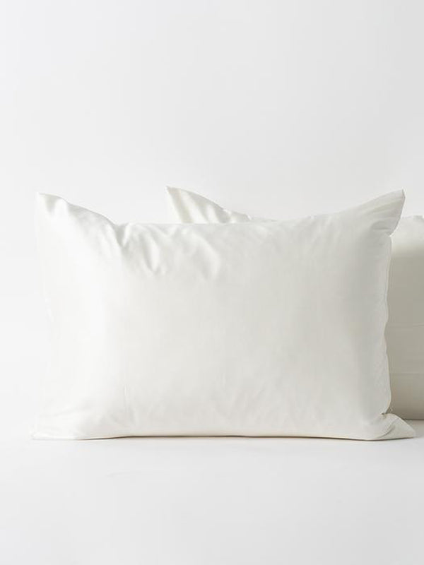 Silk Standard Pillow Case - White