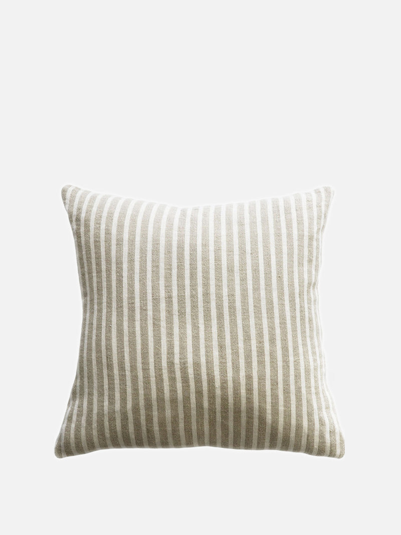 Spencer Stripe Cushion - Ivory/Natural