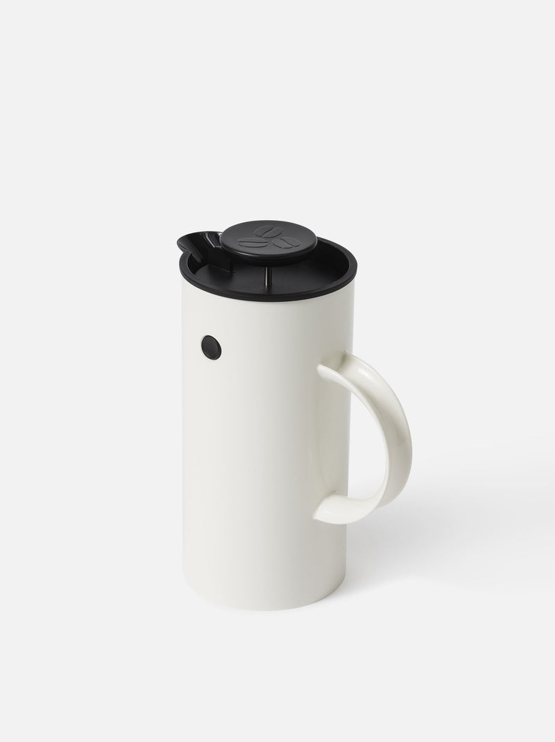 Stelton EM French Press Coffee Maker - White