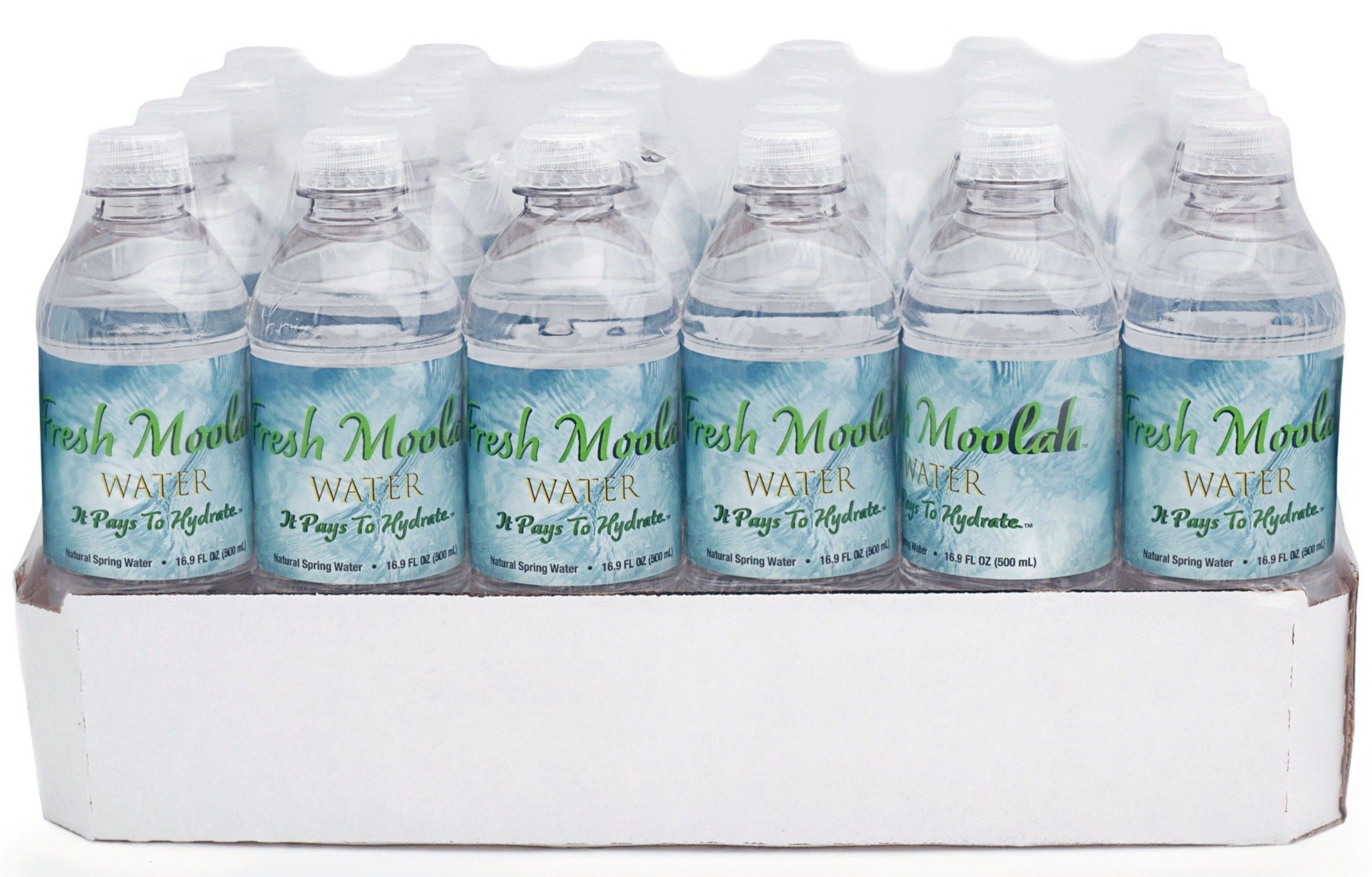 FRESH MOOLAH WATER: CASES OF 24; 16.9 FL OZ BOTTLES