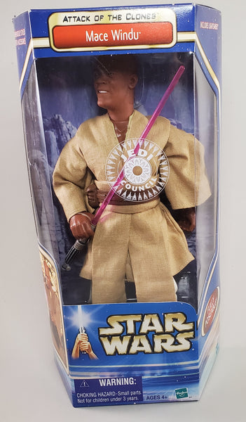 Attack of the Clones 12 in Mace Windu Figure