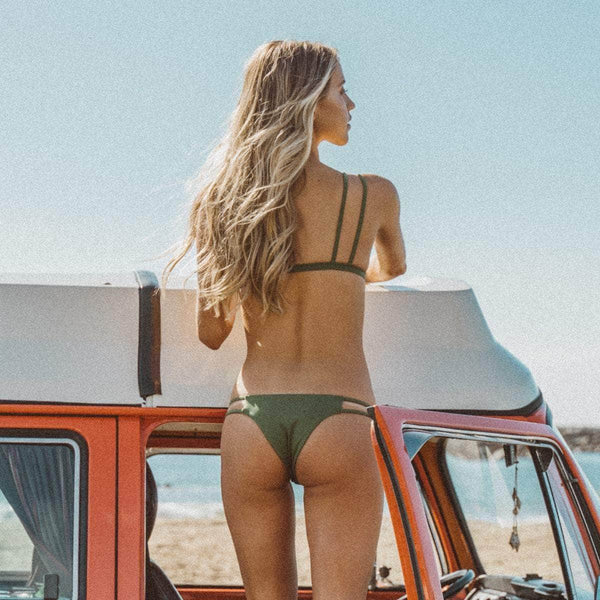 Caravel Bikini Top in Olive - the sea collective