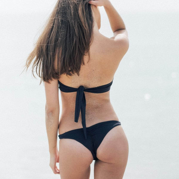 Catchy Bikini Bottom in Black - the sea collective