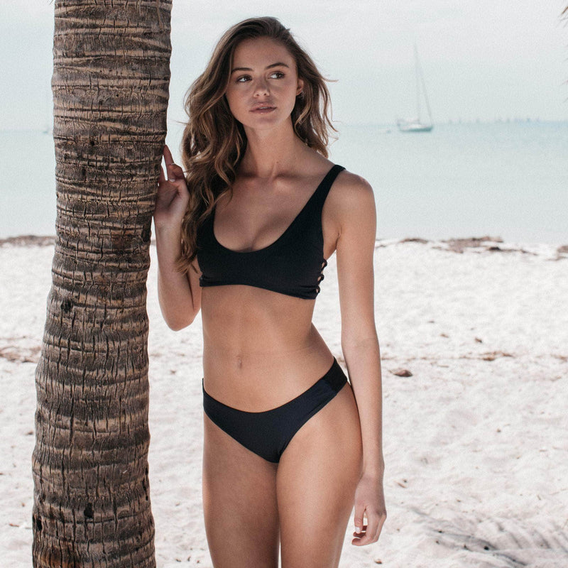 Lush Bikini Bottom in Black - the sea collective