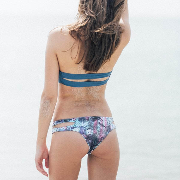 Ripped Bikini Bottom in Tropical Lizard - the sea collective