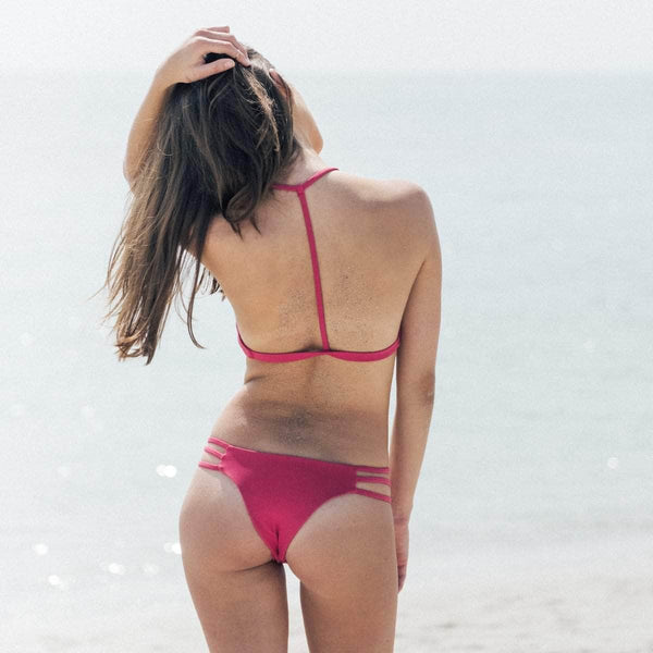 Saltish Bikini Top in Deep Pink - the sea collective