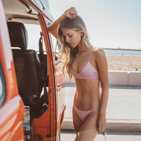 Sharp Bikini Top in Blush - the sea collective