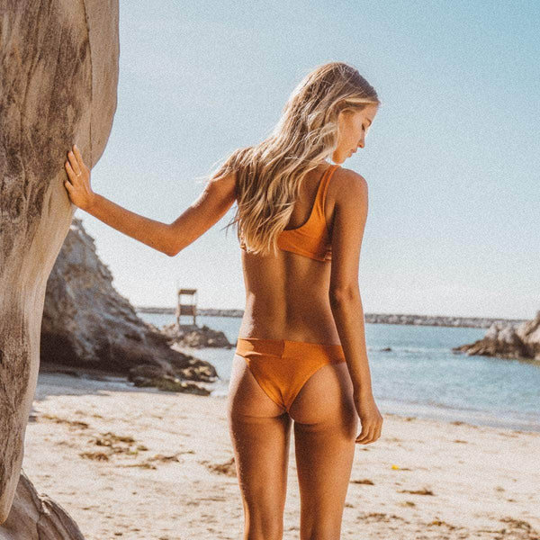 Sunshine Bikini Bottom in Pumpkin - the sea collective