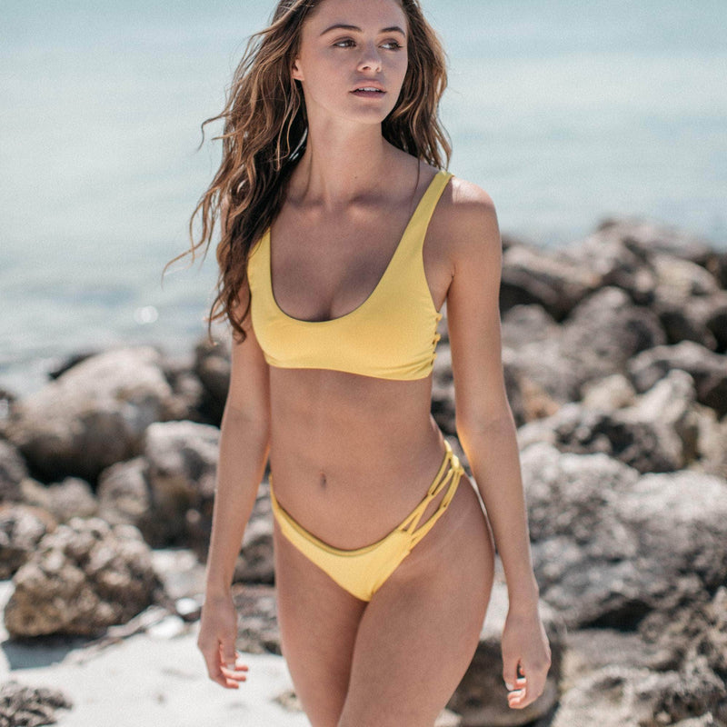 Tangled Bikini Bottom in Banana - the sea collective