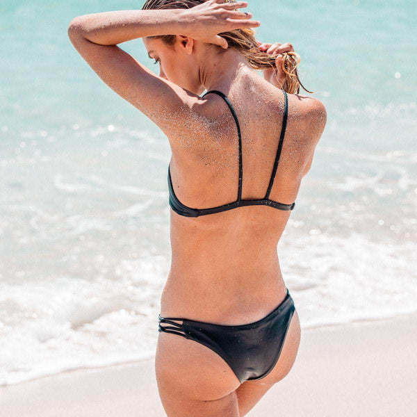 Tangled Bikini Top in Black - the sea collective