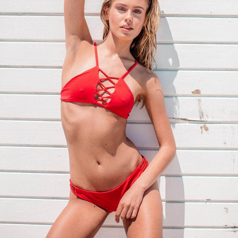 Tangled Bikini Top in Valentine - the sea collective