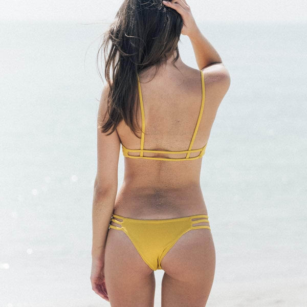 Thrill Bikini Bottom in Honey - the sea collective