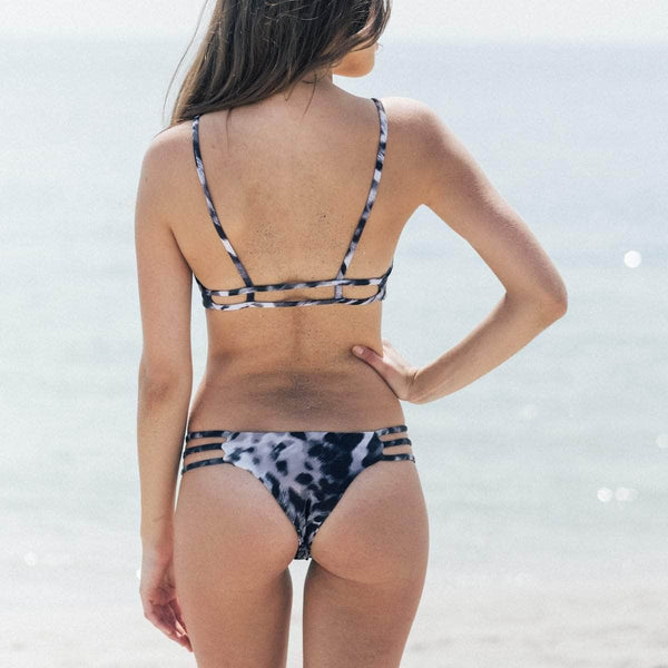 Thrill Bikini Bottom in Smokey Skin - the sea collective